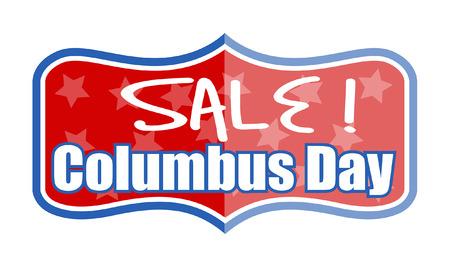 columbus: Vector Columbus Day Sale Banner