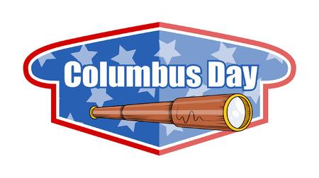 Columbus Dau Telescope Vector Banner Illustration