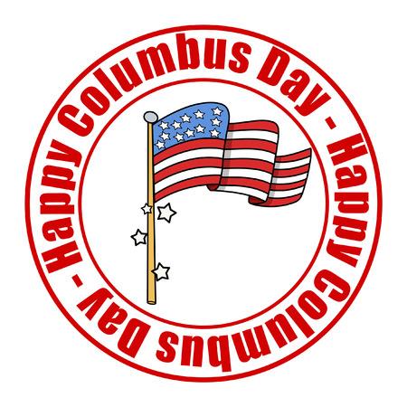 columbus: Columbus Day Flag Banner Vector