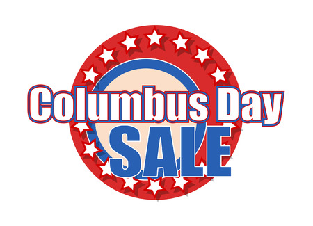 columbus: Columbus Day Sale Graphic Banner