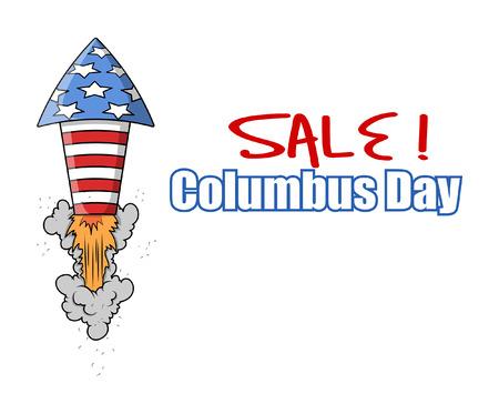 columbus: Columbus Day Sale Rocket Banner