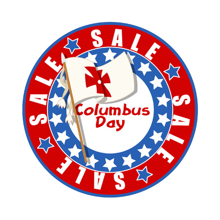 columbus: Columbus Day Flag Banner