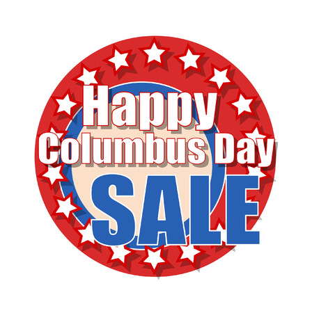 columbus: Happy Columbus Day Sale Graphic Banner