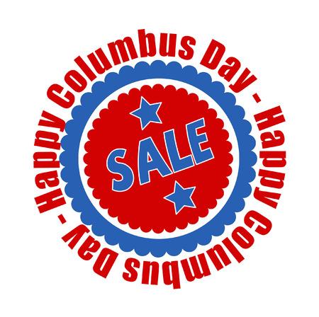 columbus: Columbus Day Sale Graphic Banner