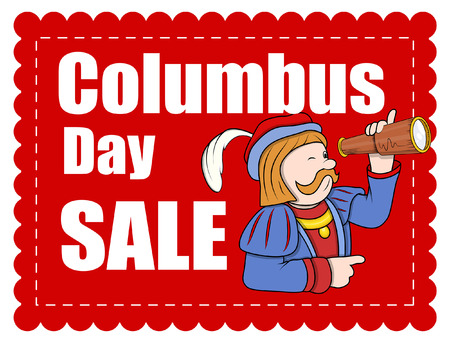 columbus: Columbus Day Cartoon Banner Venta
