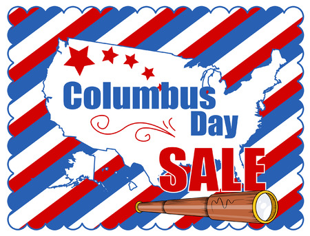 columbus: Columbus Day Graphic Sale Banner