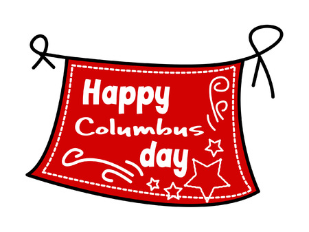 columbus: Feliz D�a de la Raza Banner Vector