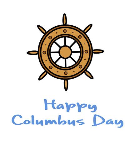 columbus: Columbus Day Ship Wheel Vector