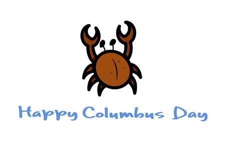 columbus: D�a de la Raza del Cangrejo Vector Vectores
