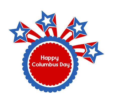 columbus: Retro Stars Columbus Day Banner
