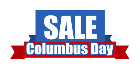 columbus: Columbus Day Graphic Sale Banner