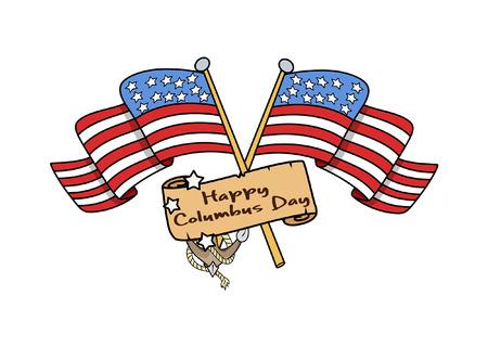 papier banner: Columbus Day Fahnen Papier Banner