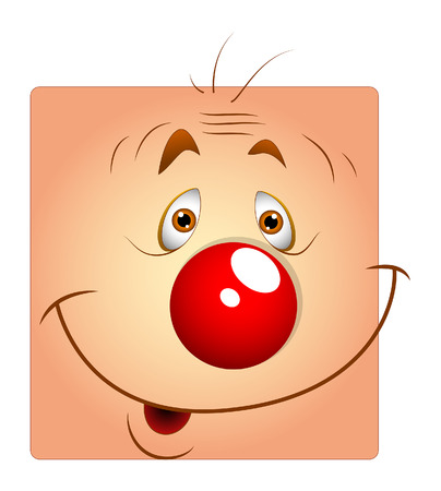 joker face: Cute Happy Joker Face Smiley Illustration
