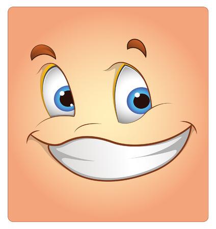 Happy Face Cartoon Box Smiley Vector