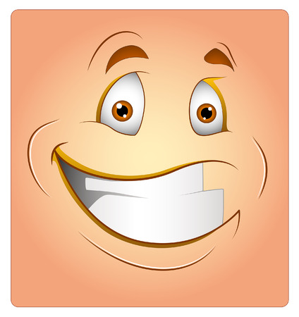 happy face: Cheerful Box Smiley Vector Illustration Illustration