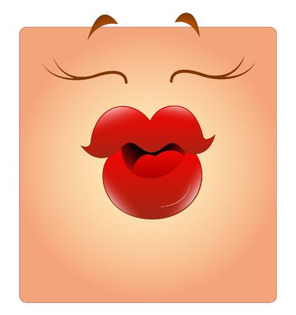 Kissing Female Box Smiley