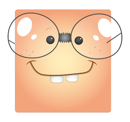 dumb: Funny Dumb Cartoon Face Smiley Box