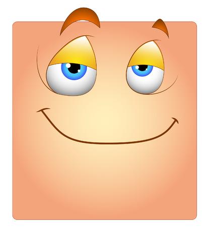 sleepily: Innocent Cute Smile Face Box Smiley