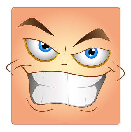 Laughing Face Box Smiley Vector