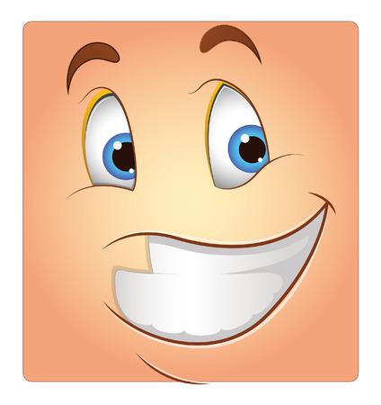 carita feliz: Sonrisa feliz de la cara del vector