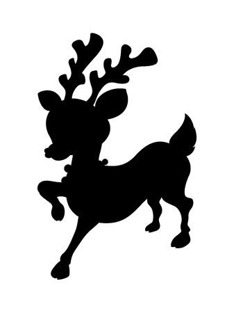 red nosed: Cute Reindeer Shape Illustration
