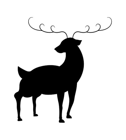 rudolph the red nosed reindeer: Reindeer Silhouette