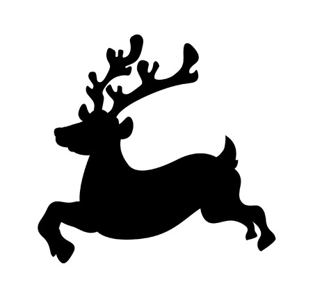 rudolph the red nosed reindeer: Running Reindeer Silhouette