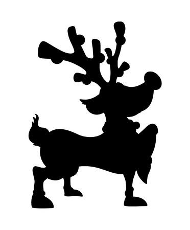 red nosed: Cute Reindeer Walking Shape