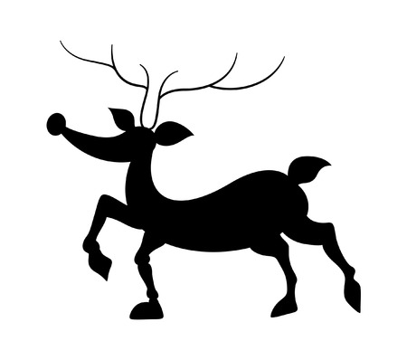 rudolph the red nosed reindeer: Funny Reindeer Silhouette
