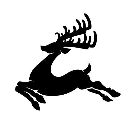 Reindeer Running Silhouette