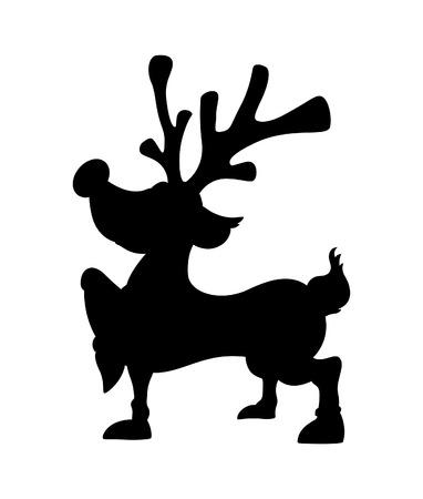 red nosed: Cute Christmas Reindeer Shape Illustration