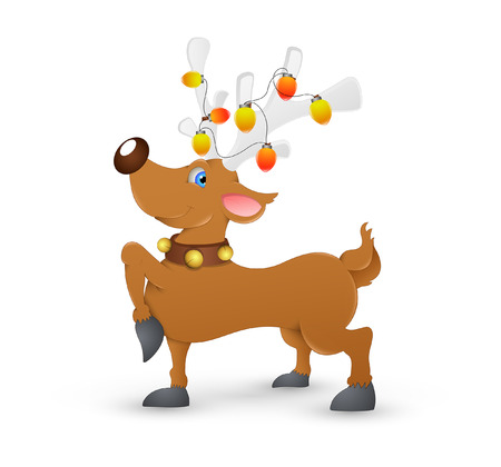 red nosed: Christmas Reindeer