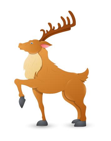 nosed: Dancer Christmas Reindeer Illustration