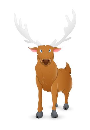 red nosed: Comet Funny Reindeer