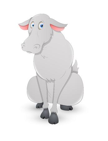 nosed: Funny Cartoon Reindeer