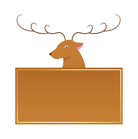 rudolph the red nosed reindeer: Blixen Reindeer Christmas Banner Vector