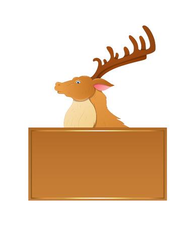 rudolph the red nosed reindeer: Cartoon Prancer Reindeer Christmas Banner