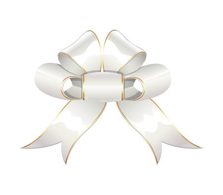ribbon bow: White Ribbon Bow Illustration