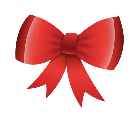 Shiny Red Bow Standard-Bild - 35464634
