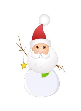 Santa Snowman Vector Illustration