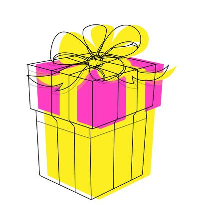 cadeau anniversaire: Box cadeau d'anniversaire Vecteur Clipart