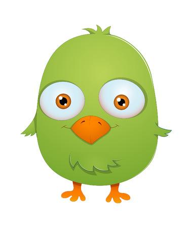 finch: Funny Small Bird Illustration