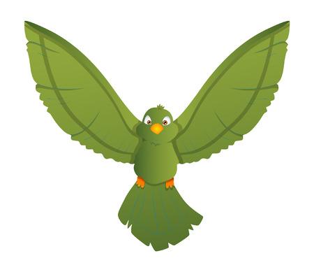 finch: Flying Cartoon Bird Illustration Illustration