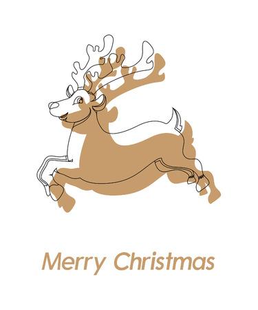 donner: Donner Christmas Reindeer Greeting Design Illustration