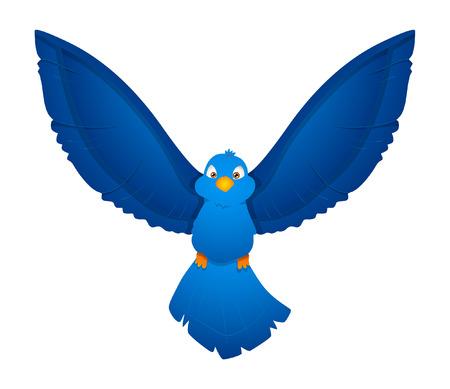 finch: Flying Bird Vector Illustration Illustration