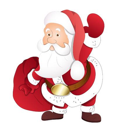bolsa de regalo: Santa que sostiene la bolsa de regalo