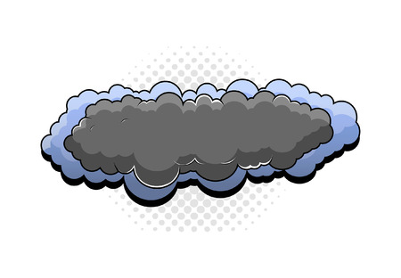 nubes caricatura: Retro Cartoon Nubes Banner Vectores