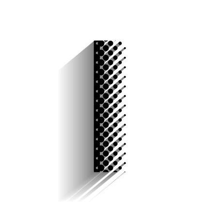 i net: Haltone I Text with Shadow