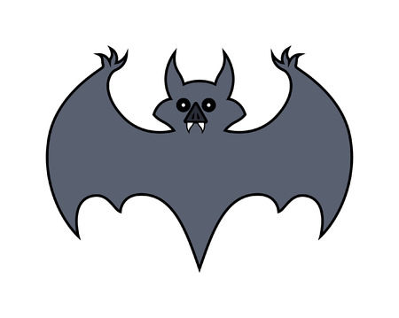 halloween bat: Halloween Bat Shape Vector Illustration