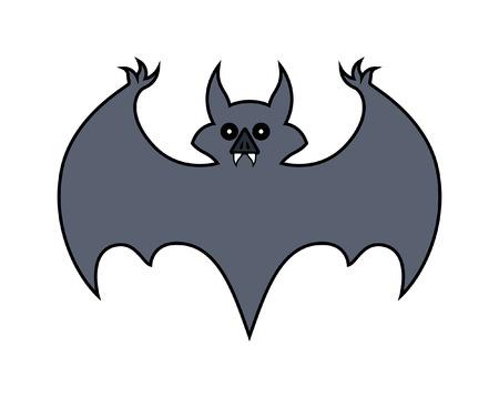 Halloween Bat Shape Vector Illustration